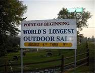 world's longest garage sale sign