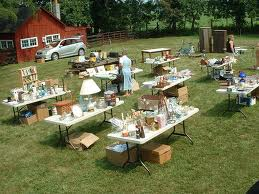 organized yard sale